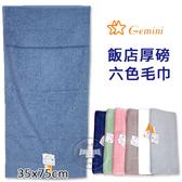 純棉毛巾 飯店厚磅六色系列款 毛巾 / 澡巾 雙星 Gemini
