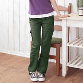 加大尺碼--百搭萬用多口袋抽繩低腰直筒工作褲(黑.綠M-3L)-P16眼圈熊中大尺碼