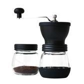 手動咖啡豆研磨機 手搖磨豆機家用小型水洗陶瓷磨芯手工粉碎器 莫妮卡小屋