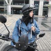 機車頭盔安全帽哈雷頭盔女保暖輕便式半盔電動機車可愛機車四季頭盔男