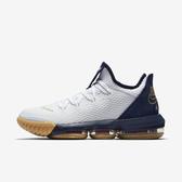 Nike Lebron XVI Low EP [CI2669-101] 男鞋 運動 休閒 籃球 氣墊 避震 明星款 白金
