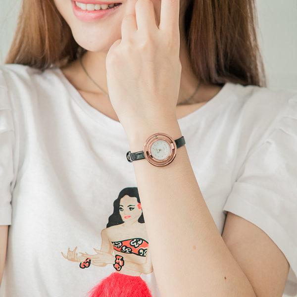 簡約雙圈鏤空手錶[W134]