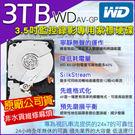 WD 3.5吋 3TB 監控專用紫標硬碟