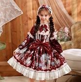 女童洋裝 女童洛麗塔連衣裙原創兒童春新款lolita洋裝公主裙小女孩蘿莉裙【快速出貨八折優惠】
