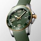 LONGINES 浪琴 深海征服者浪鬼陶瓷潛水機械錶-綠x金/41mm(L37813069)