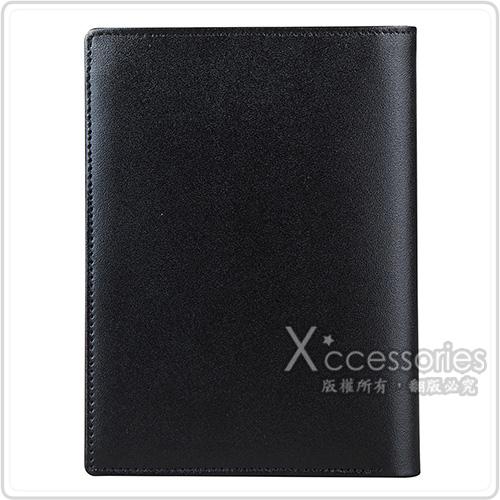 萬寶龍MONTBLANC 大班系列滑面牛皮4卡對折直立短夾(黑)