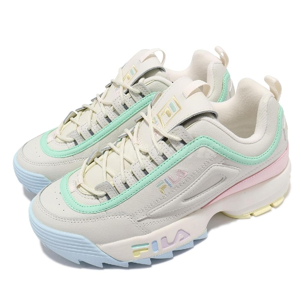 Fila 老爹鞋 Disruptor 2 Premium 女 米 粉色 厚底 鋸齒鞋【ACS】 4C113V792