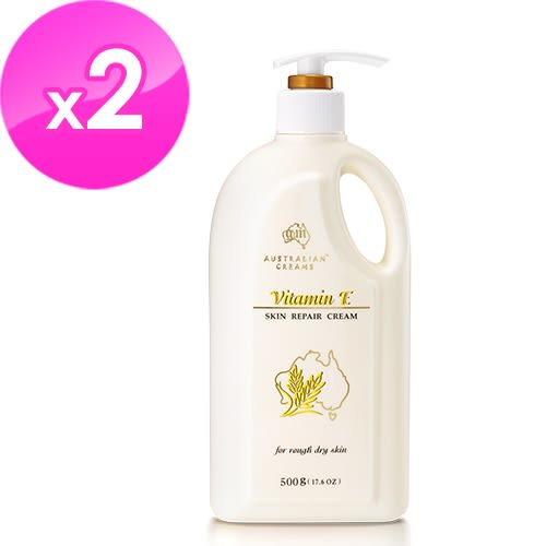 【澳洲G&M】維他命E羊毛脂皮膚滋養霜(家庭號) 500g/瓶-6入組