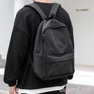 日系簡約休閒帆布書包男時尚潮流個性街頭初中高中大學生後背背包帆布後背包 suger