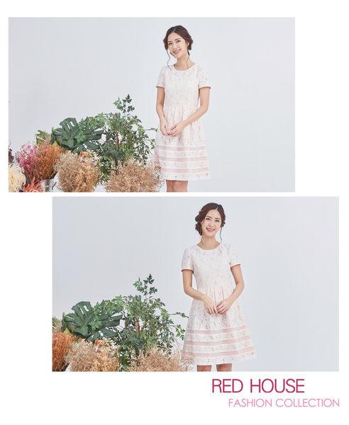 Red House 蕾赫斯-花朵蕾絲洋裝(白色)