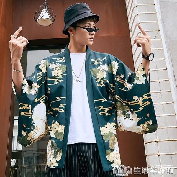 浮世繪kimono道袍中國風漢服開衫和風日式改良羽織和服外套男女潮 樂事館新品