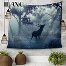 IBANO歐美掛毯掛飾掛布背景布桌布麋鹿...