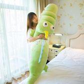 玩偶布娃娃 鱷魚毛絨玩具軟趴趴公仔睡覺抱枕長條枕布娃娃韓國大號萌玩偶女孩igo 俏腳丫