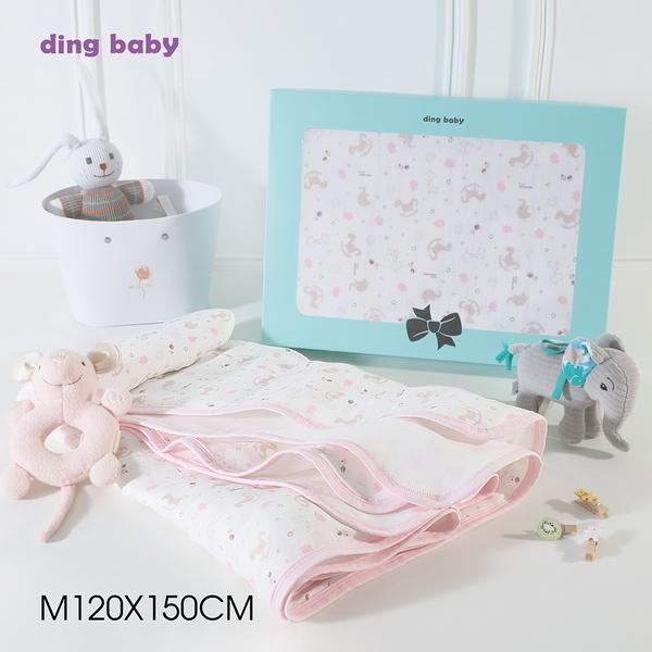 ding baby 六層紗純棉四季被-歡樂粉 (M/L號)