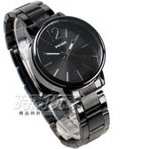 Wilon 簡約城市風格 數字時刻時尚 造型錶 防水手錶 女錶 IP黑電鍍 W937銀黑小