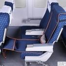 坐長途飛機睡覺神器座椅隔髒套汽車旅行充氣腳墊腿凳U型枕頭腰靠 怦然心動