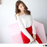 OrangeBear《AB2340》寬領落肩純色透膚薄針織上衣.3色--適 XL~5L