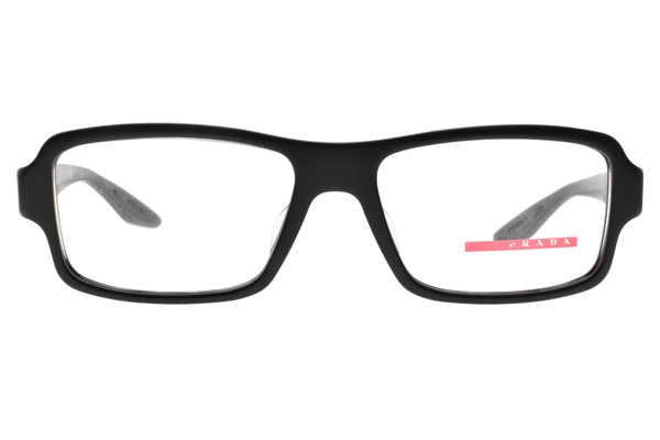 PRADA光學眼鏡 VPS01GF 1BO1O1 (霧黑) 簡約百搭方款 眼鏡框 # 金橘眼鏡