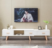 電視櫃 新款北歐電視柜輕奢小戶型家用客廳臥室易簡約現代伸縮地柜TW【快速出貨八折下殺】