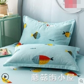 純棉枕頭套加厚單人全棉枕套一對裝學生宿舍用枕芯套48x74cm『蘑菇街小屋』