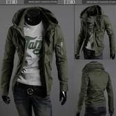 軍裝夾克男韓版修身流行男裝休閑外套薄款上衣 EIMO