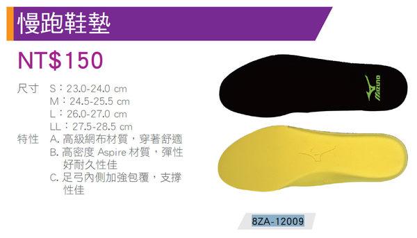 美津濃Mizuno 避震性佳 透氣 舒適 運動 鞋墊 (8ZA-12009)