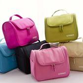 大容量大號化妝包手提洗漱包便攜旅行化妝箱簡約化妝品收納包小號 范思蓮恩