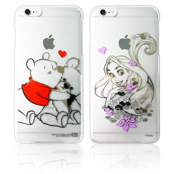 MQueen膜法女王 APPLE iphone6plus i6+ i6s+ Disney 迪士尼 長髮公主 透明 手機殼 透明 金箔 日本 背蓋