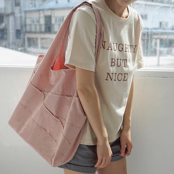 帆布袋 素色 斜紋棉 不收邊 流蘇 手提袋 環保購物袋--手提/單肩【SPBX01】 ENTER  07/19