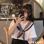 假兩件上衣 chic港味假兩件短袖t恤女2021韓版寬鬆ins泫雅風設計感小眾上衣夏 【618 購物】
