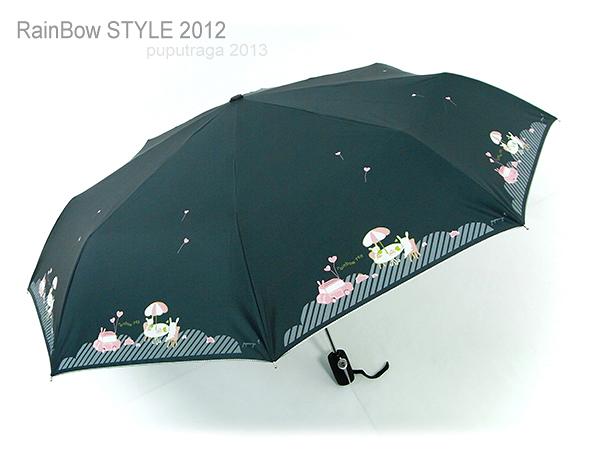 【加大型】戀戀午後-104cm自動傘(藍) /晴雨傘黑膠傘遮光傘自動傘迷你傘防風傘折傘遮陽傘洋傘