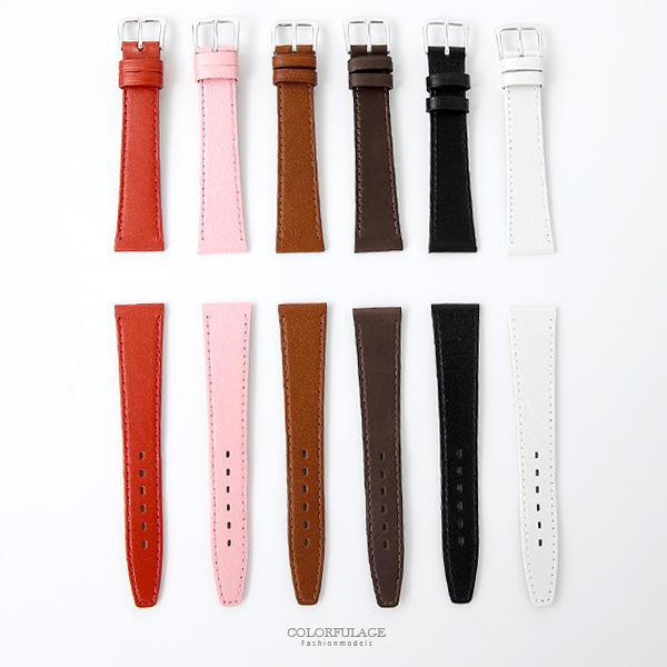 素面皮革錶帶 自行DIY更換錶帶 柒彩年代【NEA4】