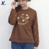 【秋冬新品】American Bluedeer - 毛帽鹿刺繡上衣