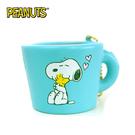 藍色款【日本進口】史努比 Snoopy 咖啡杯 捏捏吊飾 吊飾 捏捏樂 軟軟 PEANUTS squishy 捏捏 - 620415