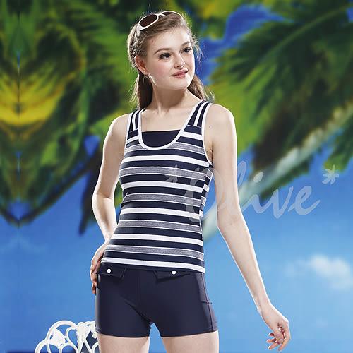 ☆小薇的店☆泳之美品牌【亮眼條紋拼接】時尚二件式泳裝特價990元 NO.2271(M-XL)