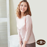 【岱妮蠶絲】素面圓領蠶絲八分袖衛生衣(珠粉)