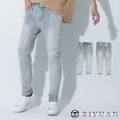 【OBIYUAN】牛仔褲 韓國製 淺洗色 彈力 休閒 單寧長褲【BPA715】