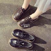 軟妹小皮鞋女學生百搭學院風娃娃鞋大頭單鞋 俏腳丫