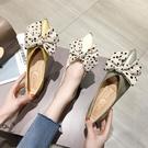 單鞋女春季新款百搭尖頭淺口女鞋仙女風蝴蝶結平底鞋 淇朵市集