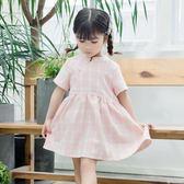 女童童裝夏季新款格子洋裝100cm-140cm6296 優家小鋪
