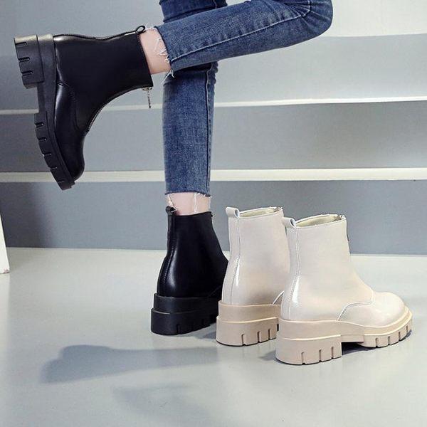 新款秋季小短靴百搭鞋子秋款靴子潮鞋春秋單靴 水晶鞋坊