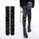 ※大腿襪※360度數碼印花公式襪 天鵝絨過膝襪大腿襪高筒襪潮流個性印字襪W0645