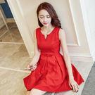 洋裝 韓版無袖短裙小清新大擺裙 2色 S-2XL #ynn6570 ❤卡樂store❤