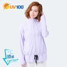 UV100 防曬 抗UV-涼感跳色出芽彈力立領外套-女