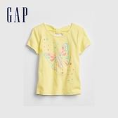Gap女幼童 立體動物圓領T恤 835631-蝴蝶圖案