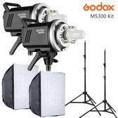 EGE 一番購】GODOX【MS300 X2 進階控光套裝組】適合產品拍攝 靜物拍攝 內建X1無線系統【公司貨】