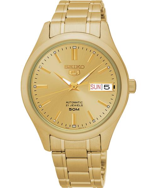 SEIKO 精工5號 盾牌日曆機械女生腕錶 7S26-04K0G/SNK876J1  金