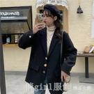 西裝外套 春秋2020新款韓版設計感寬鬆中長款網紅氣質長袖休閒西裝外套女裝 618購物節