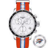 NBA聯名款:雷霆隊 TISSOT 天梭 X NBA 雷霆隊計時特別版手錶-42mm T0954171703714