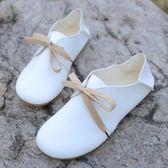 森系圓頭小白鞋平底兩穿娃娃鞋休閑文藝范學生鞋女單鞋潮 黛尼時尚精品